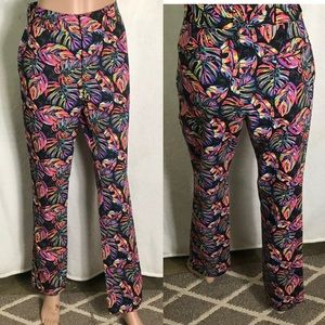 ✅ Women's high Rise Dickies leaf print Pants 10